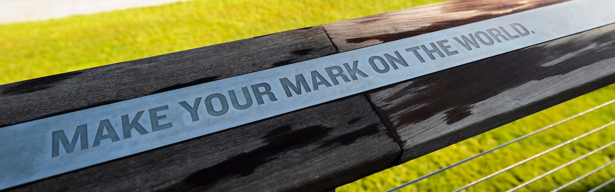 """""""Make Your Mark on the World"""" at Alumni Park"""