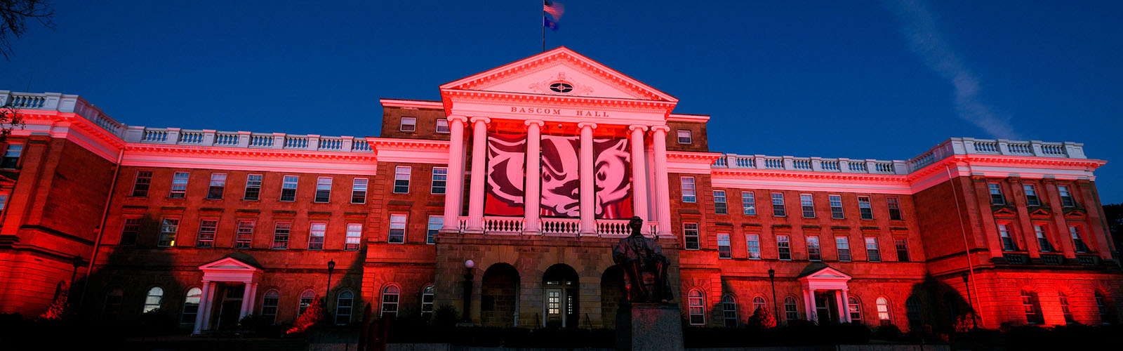 Bascom Hall at Homecoming